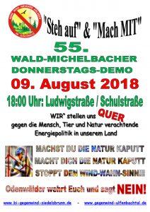 Termine für Informationsveranstaltungen, Events und Demonstrationen für einen windkraftfreien Odenwald, Keine Windkraft im Odenwald