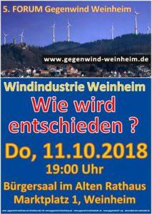 Weinheim, Windräder, falsche Energiepolitik, Landschaftszerstörung, Naturzerstörung, Lärm, Infraschall