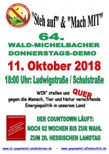 Wald-Michelbach, Windräder, falsche Energiepolitik, Landschaftszerstörung, Naturzerstörung, Lärm, Infraschall