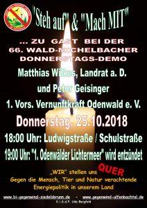 66. Donnerstagsdemo für einen windkraftfreien Odenwald
