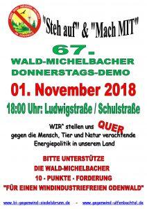 67. Donnerstagsdemo für einen windkraftfreien Odenwald