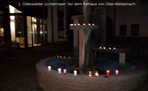 1. Odenwälder Lichtermeer, 25. Oktober, Ober-Absteinach