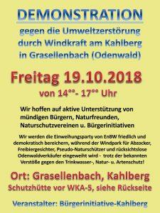 Demo Kahlberg Grasellenbach gegen Windräder