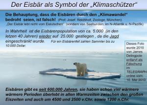 Der Eisbär lebt nicht vom Eislutschen