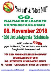 68. Donnerstagsdemo für einen windkraftfreien Odenwald