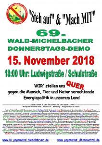 69. Donnerstagsdemo für einen windkraftfreien Odenwald