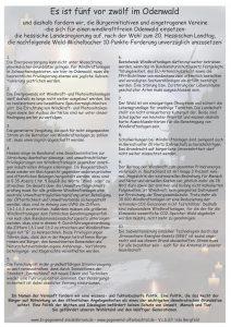 10 Punkte Für einen Windkraftfreien Odenwald