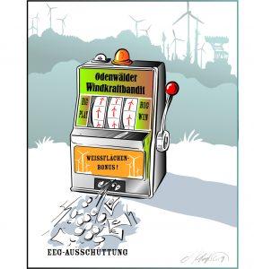 einarmiger Windkraft Bandit