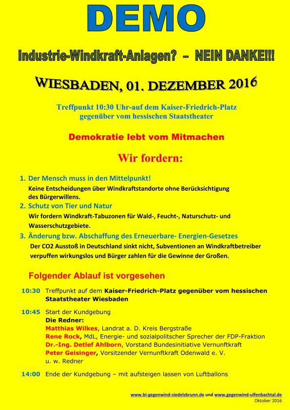 Endspurt -Flyer-Demo 01. Dezember Wiesbaden
