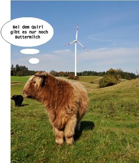 Windrad Buttermilch