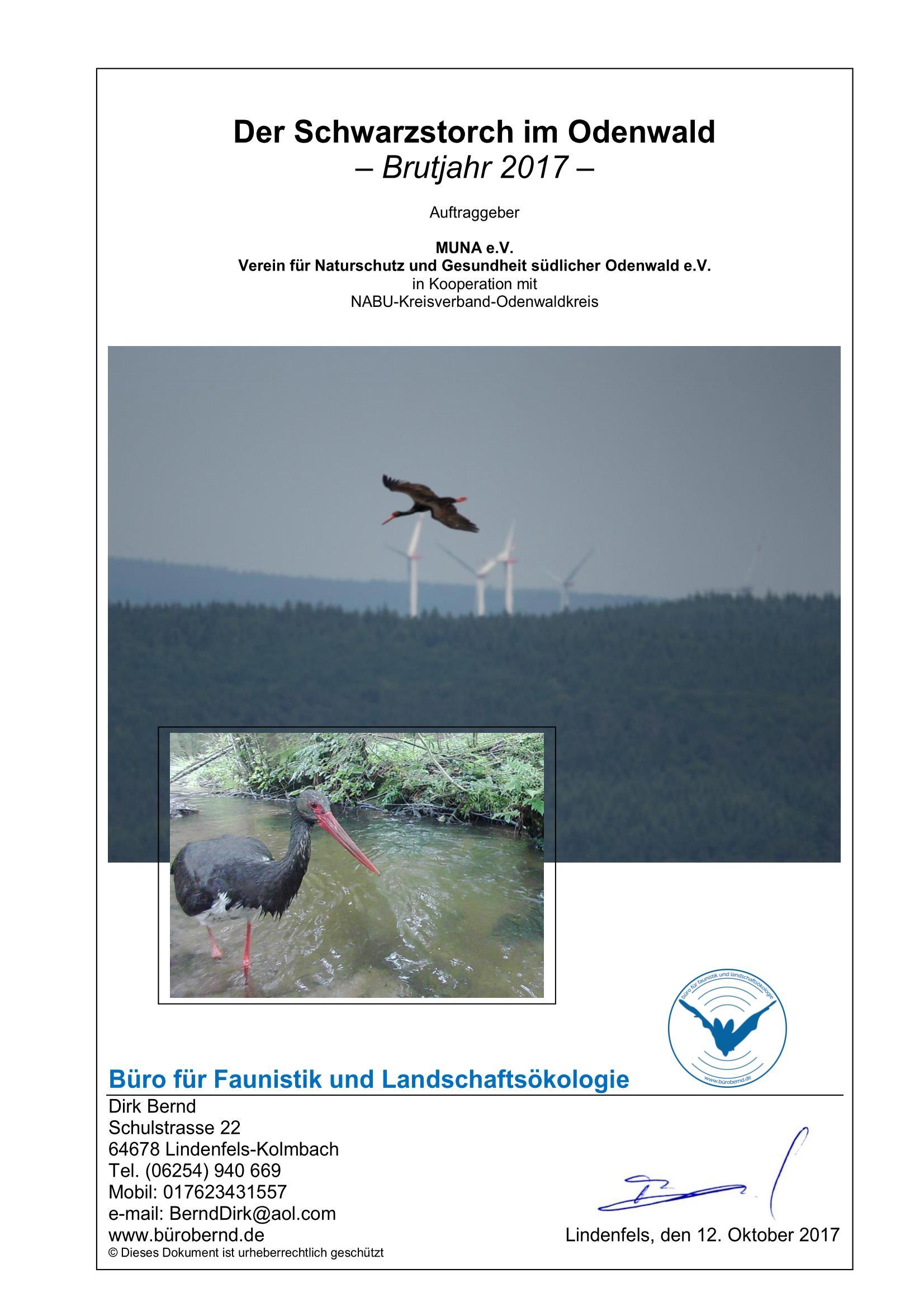 Gefährdung geschützter Tierarten wie Rotmilan, Uhu, Wespenbussard, Schwarzstorch u.v.a. sowie diverser Fledermausarten
